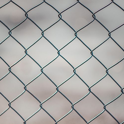 vinyl-coated chain link fencing