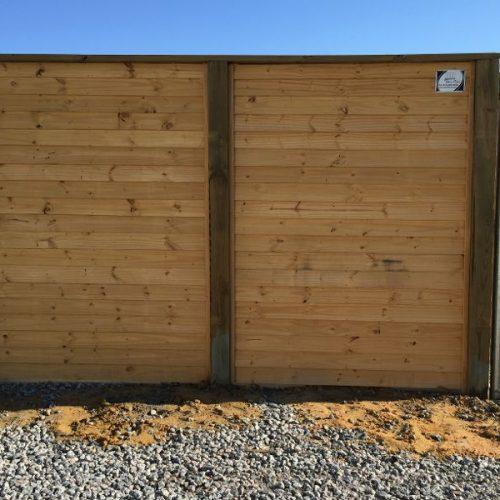 commercial wood fencing enclosure