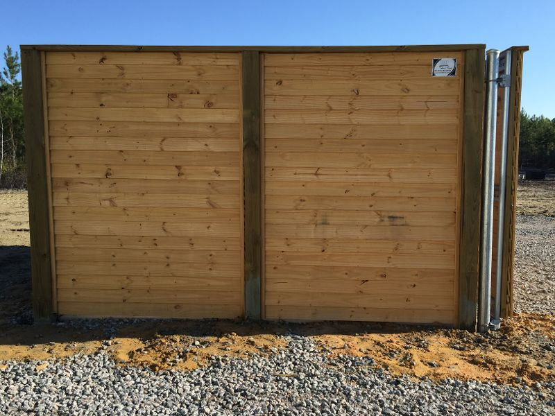 commercial wood fencing enclosure
