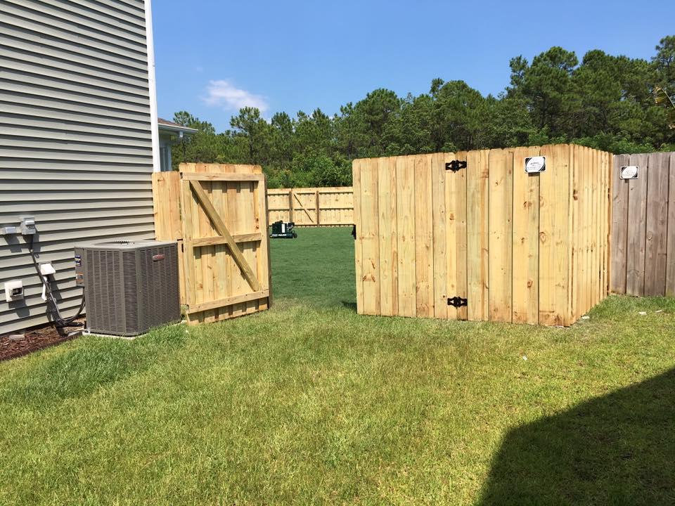 Wood Board on Board Fence