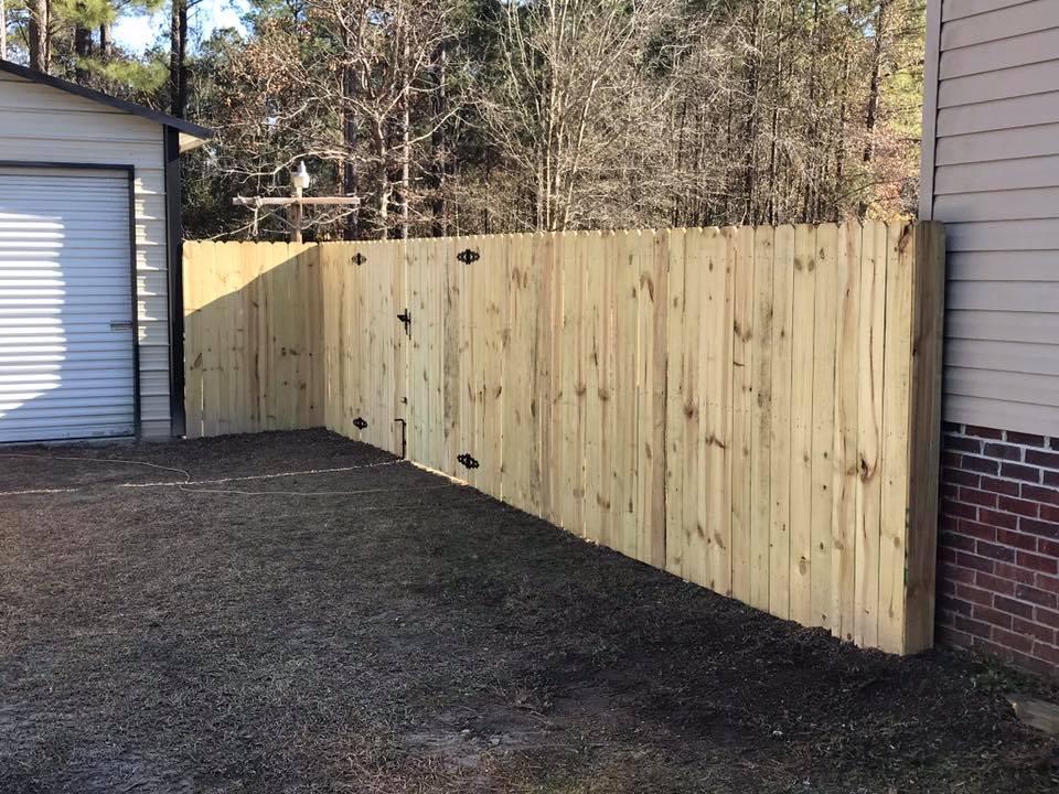 Residential Stockade Fence